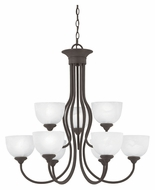 Thomas SL801663 Tahoe Large 30 Inch Diameter Painted Bronze Finish Transitional Dining Chandelier - 9 Lamps