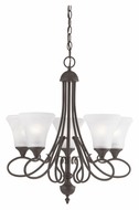Thomas SL811563 Elipse Small 5 Light Painted Bronze Finish Transitional Dining Chandelier