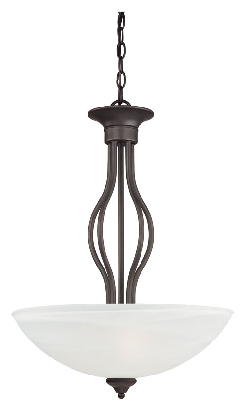 Thomas Sl823663 Tahoe Painted Bronze 20 Inch Diameter Etched White Gl Bowl Pendant Lighting Fixture