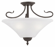 Thomas SL825363 Elipse Painted Bronze Finish Convertible 19 Inch Diameter Ceiling Lighting Fixture