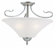 Thomas SL825378 Elipse Convertible Brushed Nickel Finish 19 Inch Diameter Ceiling Light