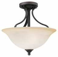 Thomas SL842022 Prestige Sable Bronze Finish 15 Inch Diameter Small Semi Flush Lighting