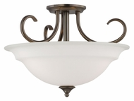 Thomas SL860715 Bella 16 Inch Diameter Oiled Bronze Semi Flush Mount Ceiling Lamp