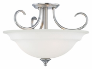 Thomas SL860778 Bella Transitional Semi Flush Brushed Nickel Ceiling Light Fixture
