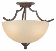 Thomas SL861622 Triton Transitional Sable Bronze Finish Semi Flush Lighting Fixture