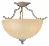 Thomas SL861672 Triton Transitional Semi Flush Moonlight Silver Ceiling Light Fixture