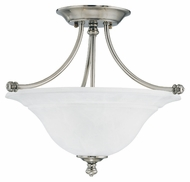 Thomas SL866241 Harmony 2 Lamp Satin Pewter Finish 16 Inch Diameter Semi Flush Lighting