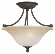 Thomas SL866262 Harmony Semi Flush Mount Aged Bronze Finish 16 Inch Diameter Ceiling Light Fixture