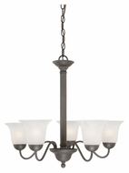 Thomas SL881163 Riva Transitional 25 Inch Diameter Small Painted Bronze Chandelier Light Fixture