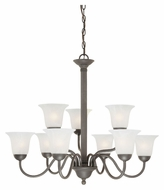 Thomas SL881363 Riva Painted Bronze Finish 32 Inch Diameter 9 Lamp Large Chandelier - Transitional