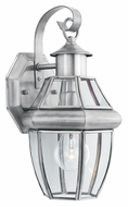 Thomas SL941378 Heritage Small 13 Inch Tall Brushed Nickel Outdoor Light Sconce