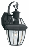 Thomas SL94247 Heritage Black 15 Inch Tall Traditional Beveled Glass Outdoor Sconce - Medium