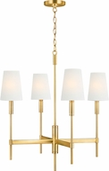 TOB by Thomas O'Brien TC1034BBS Beckham Classic Contemporary Burnished Brass Hanging Chandelier