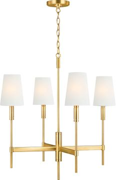 TOB by Thomas O達rien TC1034BBS Beckham Classic Contemporary Burnished Brass Hanging Chandelier