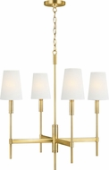 TOB by Thomas O'Brien TC1034BBS Beckham Classic Burnished Brass Hanging Chandelier