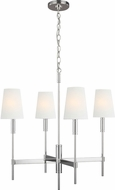 TOB by Thomas O'Brien TC1034PN Beckham Classic Contemporary Polished Nickel Chandelier Light