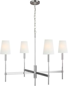 TOB by Thomas O達rien TC1044PN Beckham Classic Modern Polished Nickel Lighting Chandelier