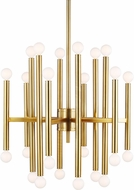 TOB by Thomas O�Brien TC10524BBS Beckham Modern Contemporary Burnished Brass Chandelier Lamp