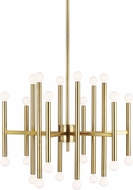 TOB by Thomas O'Brien TC10624BBS Beckham Modern Contemporary Burnished Brass Ceiling Chandelier
