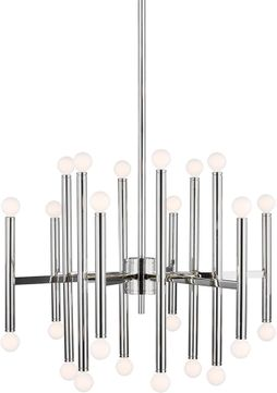 TOB by Thomas O達rien TC10624PN Beckham Modern Modern Polished Nickel Hanging Chandelier