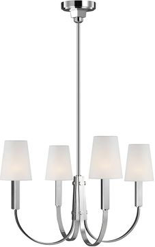 TOB by Thomas O達rien TC1084PN Logan Contemporary Polished Nickel Chandelier Lighting