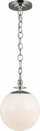 TOB by Thomas O�Brien TP1031PN Capri Modern Polished Nickel Mini Hanging Light