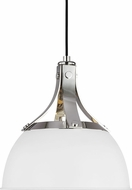 TOB by Thomas O�Brien TP1051PN-MWT Logan Contemporary Polished Nickel / Matte White Mini Pendant Hanging Light