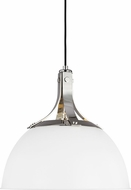 TOB by Thomas O�Brien TP1061PN-MWT Logan Modern Polished Nickel / Matte White 16  Drop Ceiling Lighting