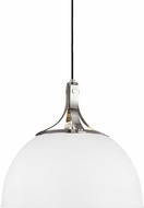 TOB by Thomas O�Brien TP1071PN-MWT Logan Contemporary Polished Nickel / Matte White 18  Drop Ceiling Light Fixture