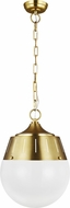 TOB by Thomas O�Brien TP1092BBS Arlett Contemporary Burnished Brass Lighting Pendant