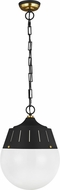 TOB by Thomas O�Brien TP1092MBK-BBS Arlett Modern Midnight Black / Burnished Brass Pendant Lamp