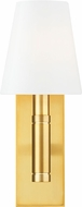 TOB by Thomas O�Brien TV1001BBS Beckham Classic Contemporary Burnished Brass Wall Sconce Lighting