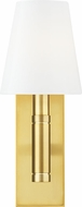 TOB by Thomas O�Brien TV1001BBS Beckham Classic Burnished Brass Wall Light Fixture