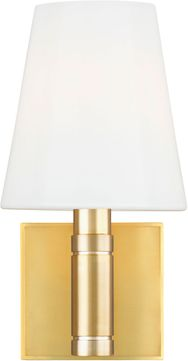 TOB by Thomas O'Brien TV1011BBS Beckham Classic Contemporary Burnished Brass Lighting Wall Sconce