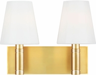 TOB by Thomas O�Brien TV1022BBS Beckham Classic Contemporary Burnished Brass 2-Light Bathroom Wall Sconce