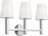 TOB by Thomas O'Brien TV1133PN Logan Contemporary Polished Nickel 3-Light Bathroom Light Fixture