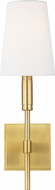 TOB by Thomas O�Brien TW1031BBS Beckham Classic Burnished Brass Wall Sconce Lighting