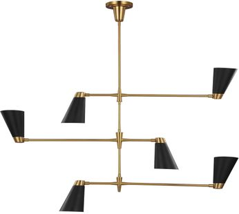 TOB by Thomas O' Brien TC1116BBS Signoret Burnished Brass Lighting Chandelier