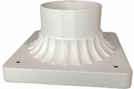 Trans Globe 100-WH Canby White Exterior Post Mount