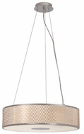 Trans Globe 10144-PC Cardiff Polished Chrome 20  Drum Lighting Pendant