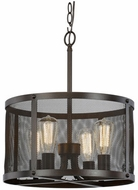 Trans Globe 10224-ROB Mesh Contemporary Rubbed Oil Bronze 16 Drum Hanging Light