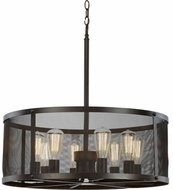 Trans Globe 10228-ROB Mesh Modern Rubbed Oil Bronze 25  Drum Pendant Light Fixture