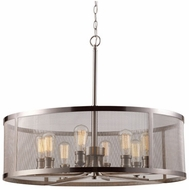 Trans Globe 10229-BN Mesh Contemporary Brushed Nickel 24.5  Drum Pendant Lighting Fixture
