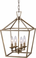 Trans Globe 10264-ASL Lacey Antique Silver Leaf 12  Foyer Lighting