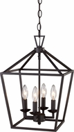 Trans Globe 10264-ROB Lacey Rubbed Oil Bronze 12  Foyer Light Fixture