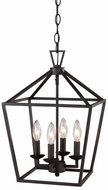 Trans Globe 10264-ROB Lacey Rubbed Oil Bronze 8 Foyer Light Fixture
