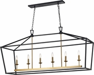 Trans Globe 10267-BK-AG Lacey Black/Antique Gold Island Lighting