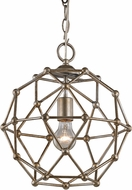 Trans Globe 10341-ASL Avo Modern Anique Silver Leaf Hanging Lamp