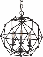 Trans Globe 10343-ROB Avo Contemporary Rubbed Oil Bronze Hanging Light