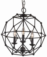 Trans Globe 10343-ROB Avo Modern Rubbed Oil Bronze Pendant Hanging Light